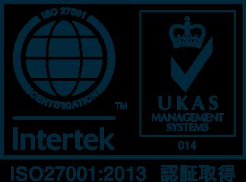 ISMS(ISO27001:2013・情報セキュリティマネジメントシステム)の認証を取得しています。